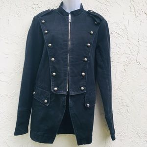Tripp jacket.Small. Heavy. Denim.coat.Pea Coat